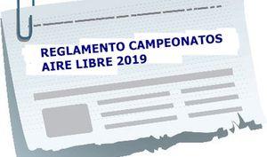 REGLAMENTO TEMPORADA AIRE LIBRE 2019