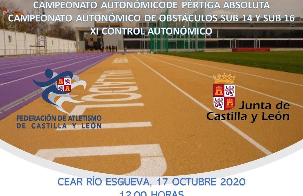CAMPEONATOS AUTONÓMICOS DE PÉRTIGA ABSOLUTA, OBSTÁCULOS SUB 14 Y SUB 16 Y XI CONTROL AUTONÓMICO